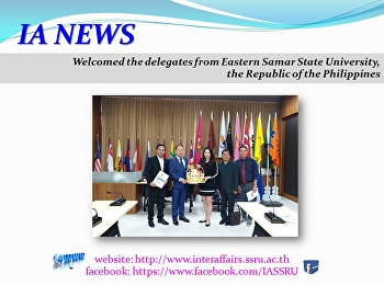 Welcoming the delegates from Eastern Samar State University