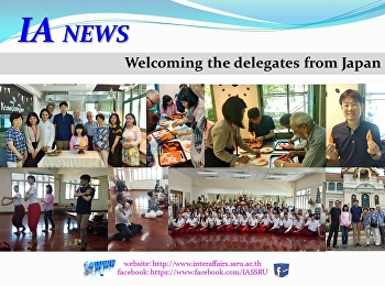 Welcoming the delegates from Japan