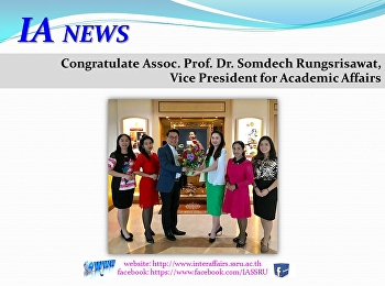 Congratulate Assoc. Prof. Dr. Somdech Rungsrisawat