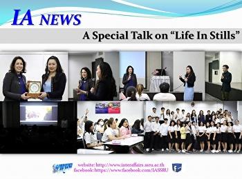 """A special talk on """"Life In Stills"""""""