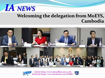 Welcoming the delegation from MoEYS, Cambodia