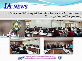 The Second Meeting of Rajabhat University International Strategy Committee for 2019