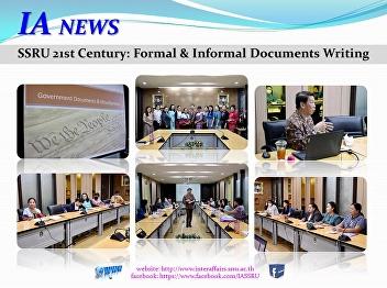 SSRU 21st Century: Formal & Informal Documents Writing